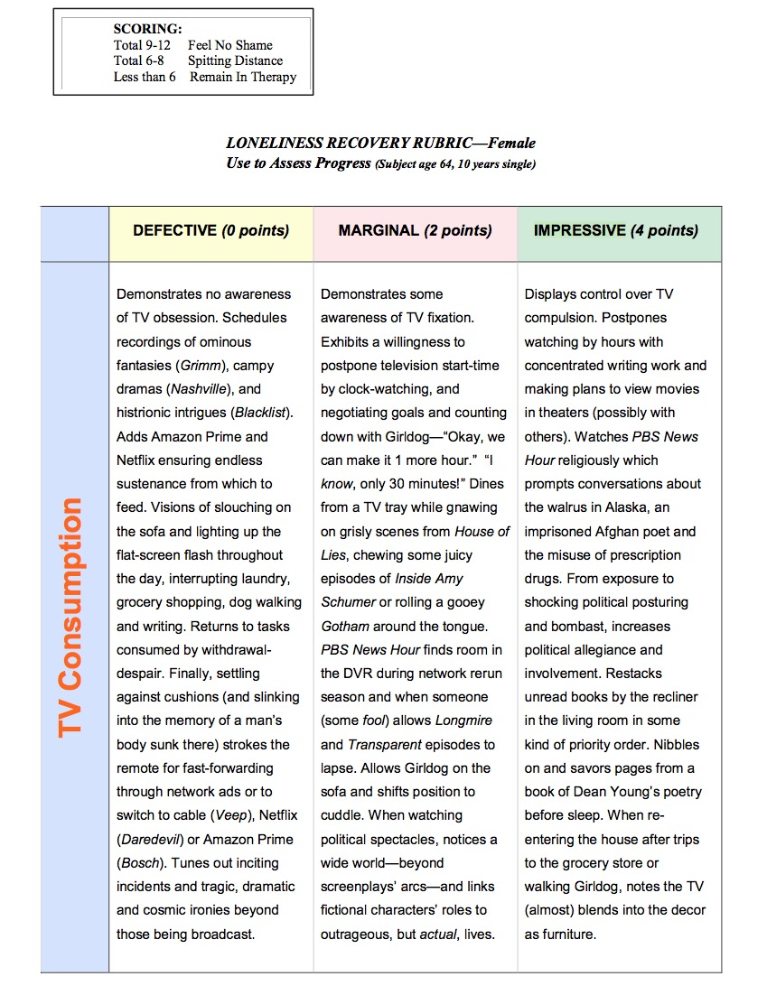 loneliness recovery rubric female by judith sara gelt broad street magazine and a flash essay is published in referential magazine she lives in denver where she is a member of lighthouse writers workshop