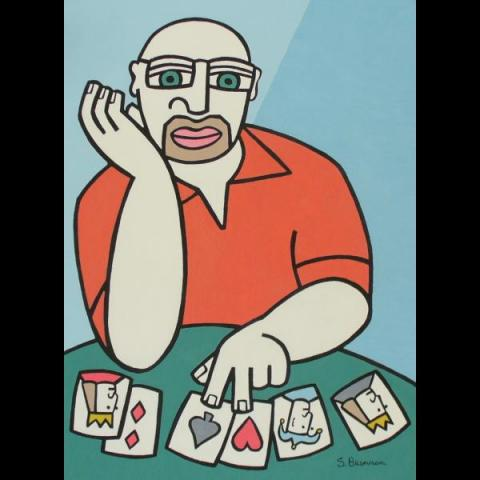 Self-Portrait with Cards